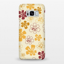 Galaxy S8+  Gold Funky Flowers by Paula Ohreen