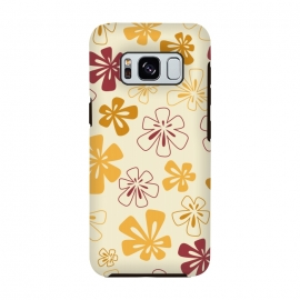Galaxy S8  Gold Funky Flowers by Paula Ohreen