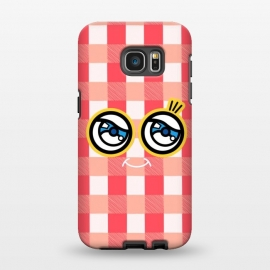 Galaxy S7 EDGE  Vintage Tartans Pattern by Michael Cheung