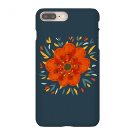 Decorative Whimsical Orange Flower by Boriana Giormova