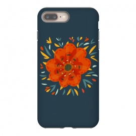 Decorative Whimsical Orange Flower by Boriana Giormova (flower,flowers,floral,botanical,flora,nature,nature lover,feminie,decorative,whimsical,botanic,abstract flower,-pretty flower,beautiful,pretty)