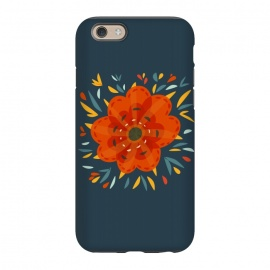 iPhone 6/6s  Decorative Whimsical Orange Flower by Boriana Giormova