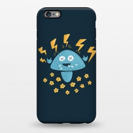 iPhone 6/6s plus  Funny Cartoon Heavy Metal Music Mushroom by Boriana Giormova