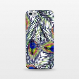 iPhone 5/5E/5s  Peacock Feathers Pattern by ECMazur