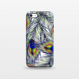 iPhone 5C  Peacock Feathers Pattern by ECMazur