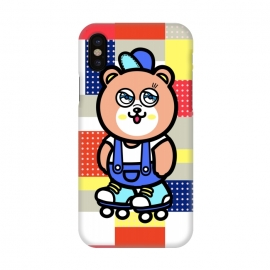 iPhone X  GO GO Bear by Michael Cheung