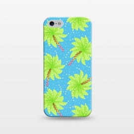 iPhone 5/5E/5s  Abstract Flower-like Palm Trees Pattern by Boriana Giormova