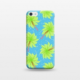 iPhone 5C  Abstract Flower-like Palm Trees Pattern by Boriana Giormova