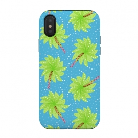 iPhone Xs / X  Abstract Flower-like Palm Trees Pattern by