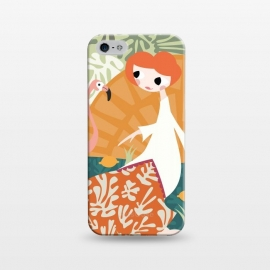 iPhone 5/5E/5s  Girl and Flamingo 001 by