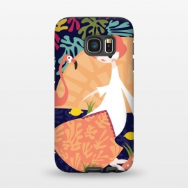 Galaxy S7  Girl and Flamingo 002 by Jelena Obradovic
