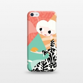 iPhone 5C  Girl and flamingo 003 by Jelena Obradovic