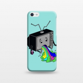 iPhone 5C  Vomit tv 2 by Coffee Man (retro, fun, funny, humor, geek, nerd, art, vomit, kid, kids, children, tv, tv show)