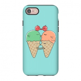 iPhone 8/7  Sweet Kiss by Coffee Man (ice cream, kiss, fun, funny, humor, cute, adorable, couple, lover, san valentine, melted, romance, food, sugar)