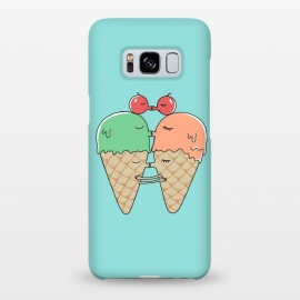 Galaxy S8+  Sweet Kiss by Coffee Man (ice cream, kiss, fun, funny, humor, cute, adorable, couple, lover, san valentine, melted, romance, food, sugar)
