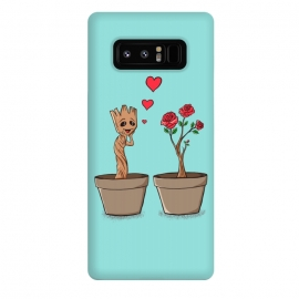 Galaxy Note 8  In Love by Coffee Man (love, geek, nerd,fun, funny, humor, cute, adorable, rose, flowers, romance, san valentine)