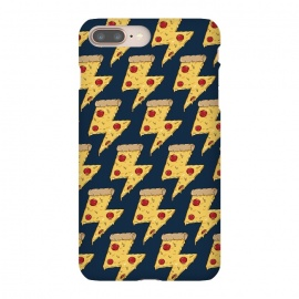 iPhone 8/7 plus  Pizza Power Pattern by  (pizza, power, fast food,humor,fun,funny,pepperoni, cheese, pizza lover,geek, nerd)