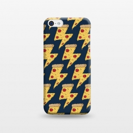 iPhone 5C  Pizza Power Pattern by Coffee Man (pizza, power, fast food,humor,fun,funny,pepperoni, cheese, pizza lover,geek, nerd)