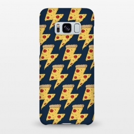 Galaxy S8+  Pizza Power Pattern by Coffee Man (pizza, power, fast food,humor,fun,funny,pepperoni, cheese, pizza lover,geek, nerd)