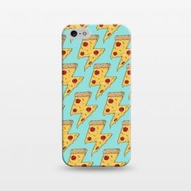 iPhone 5/5E/5s  Pizza Power Pattern Green by