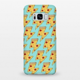 Galaxy S8+  Pizza Power Pattern Green by Coffee Man (pizza, pizza lover,fast food,fun, funny, humor, restaurant,pepperoni, cheese, creative,graphic designer)