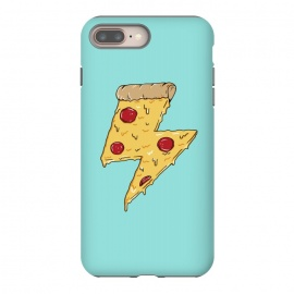 Pizza power green by Coffee Man (pizza, pizza lover, power, fun, funny, humor, fast food, pepperoni, cheese, geek,nerd)
