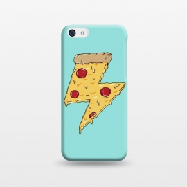 iPhone 5C  Pizza power green by Coffee Man (pizza, pizza lover, power, fun, funny, humor, fast food, pepperoni, cheese, geek,nerd)