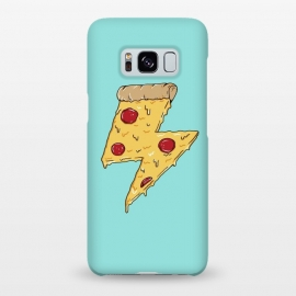 Galaxy S8+  Pizza power green by Coffee Man (pizza, pizza lover, power, fun, funny, humor, fast food, pepperoni, cheese, geek,nerd)