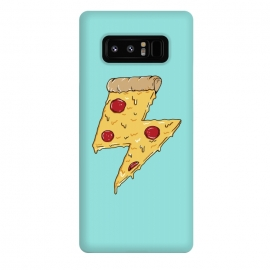 Galaxy Note 8  Pizza power green by Coffee Man (pizza, pizza lover, power, fun, funny, humor, fast food, pepperoni, cheese, geek,nerd)