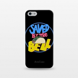 iPhone 5/5E/5s  Saved by the taco by Coffee Man (taco,90s, tvshow, tv,retro,funny, humor, fast food,lettering,geek, nerd,bell)
