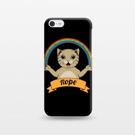 iPhone 5C  Cat nope Black by Coffee Man