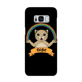Cat nope Black by Coffee Man (cat, cats,pet, pets,cute, adorable,fun, funny, rainbow, magic,nope, no,cat lady,animal,animals)