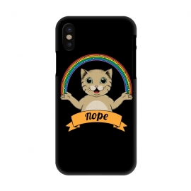 iPhone X  Cat nope Black by Coffee Man
