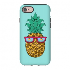 iPhone 8/7  Floral Pineapple by Coffee Man (summer,spring break,pineapple, ocean, sea, marine, beach,sun, sun glasses,floral, flowers,fun, funny, fashion, gift,sunset)