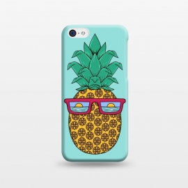 iPhone 5C  Floral Pineapple by Coffee Man (summer,spring break,pineapple, ocean, sea, marine, beach,sun, sun glasses,floral, flowers,fun, funny, fashion, gift,sunset)