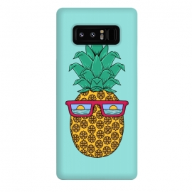 Galaxy Note 8  Floral Pineapple by Coffee Man (summer,spring break,pineapple, ocean, sea, marine, beach,sun, sun glasses,floral, flowers,fun, funny, fashion, gift,sunset)