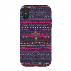 iPhone X  Tribal Stripe by Susanna Nousiainen (tribal,stripe,colorfull,geometric)