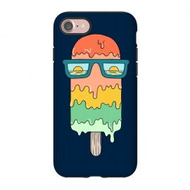 iPhone 8/7  Hot ice Cream  by Coffee Man (summer, spring break,vacation, hot, melted,ice cream,sun, ocean, sea,marine,food,sun glasses,creative)
