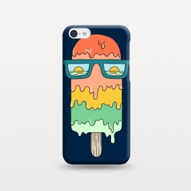 iPhone 5C  Hot ice Cream  by Coffee Man (summer, spring break,vacation, hot, melted,ice cream,sun, ocean, sea,marine,food,sun glasses,creative)
