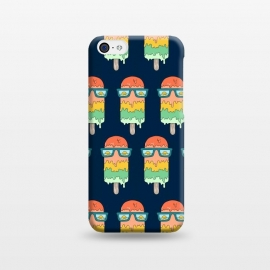 iPhone 5C  Hot Ice Cream pattern by Coffee Man (summer, ice cream, sea, marine, beach, spring break,melted, sun, sun glasses,vacation)