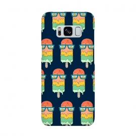 Hot Ice Cream pattern by Coffee Man (summer, ice cream, sea, marine, beach, spring break,melted, sun, sun glasses,vacation)