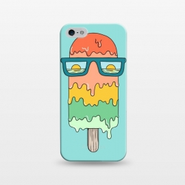 iPhone 5/5E/5s  Hot Ice Cream Green by Coffee Man (summer, spring break, vacation, beach,sea, marine,ocean, sun, sun glasses,melted,sunset,landscape,ice cream)
