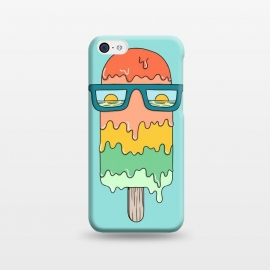 iPhone 5C  Hot Ice Cream Green by Coffee Man (summer, spring break, vacation, beach,sea, marine,ocean, sun, sun glasses,melted,sunset,landscape,ice cream)
