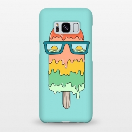 Galaxy S8+  Hot Ice Cream Green by Coffee Man (summer, spring break, vacation, beach,sea, marine,ocean, sun, sun glasses,melted,sunset,landscape,ice cream)