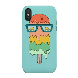 iPhone Xs / X  Hot Ice Cream Green by Coffee Man (summer, spring break, vacation, beach,sea, marine,ocean, sun, sun glasses,melted,sunset,landscape,ice cream)