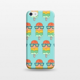 Hot Ice Cream pattern green by Coffee Man (summer,vacation,sea,marine,melted,ice cream,sun glasses,spring break,sun,sunset,landscape,beach)