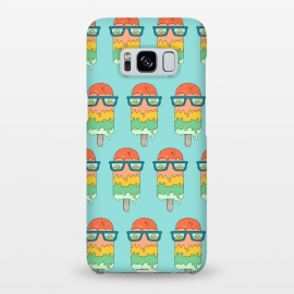 Galaxy S8+  Hot Ice Cream pattern green by Coffee Man (summer,vacation,sea,marine,melted,ice cream,sun glasses,spring break,sun,sunset,landscape,beach)