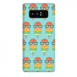 Galaxy Note 8  Hot Ice Cream pattern green by Coffee Man (summer,vacation,sea,marine,melted,ice cream,sun glasses,spring break,sun,sunset,landscape,beach)