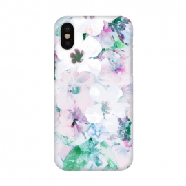 iPhone Xs/X  Pastelflowergarden by Susanna Nousiainen (flower,pastel,garden,nature,hibiscus,tropical)