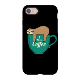 iPhone 8/7  I NEED COFFEE by Coffee Man (coffee,i need coffee,coffee lover,sloth,animal,pet,pet lover,animal lover,fun,funny,humor,cute,adorable,morning)